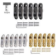 Tooyful 6 個一個人ブリッジサドルテールネジレンチセットのための 6 弦エレキギター低音部品