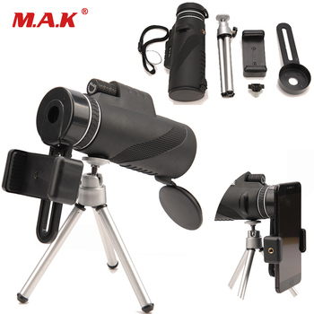 High Quality 40x60 Monocular Powerful Binoculars Zoom Great Handheld Telescope lll night Military HD Professional Hunting image