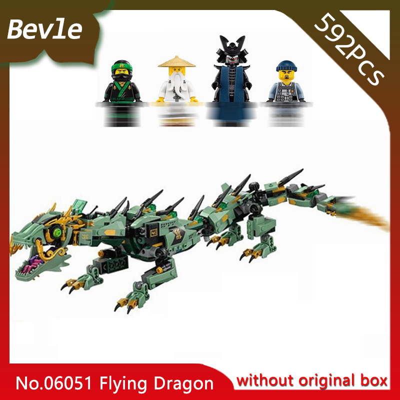 купить LEPIN 06051 Flying Machine Armor Dragon Model 592Pcs Ninja Series Building Blocks set Bricks Children Toys 70612 Doinbby S недорого