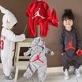 Moda Roupas de Bebê Dos Desenhos Animados Da Menina do Menino Macacão de Algodão Do Bebê da Longo-luva Infantil Trajes Macacão Bebê Recém-nascido