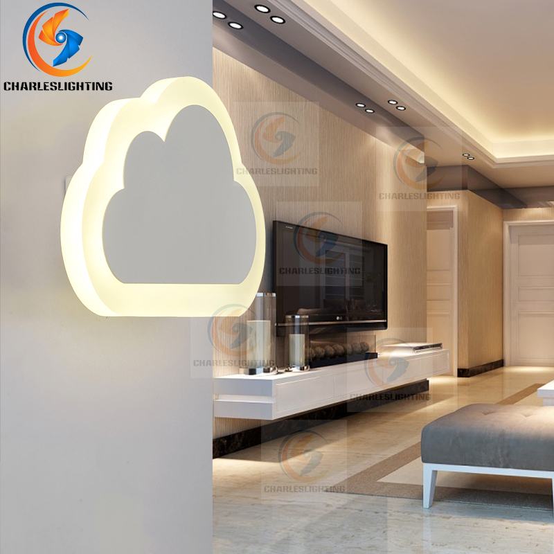 LED lamp bedside bedroom living room hallway simple children's room warm and stylish modern creative cloud wall lamp