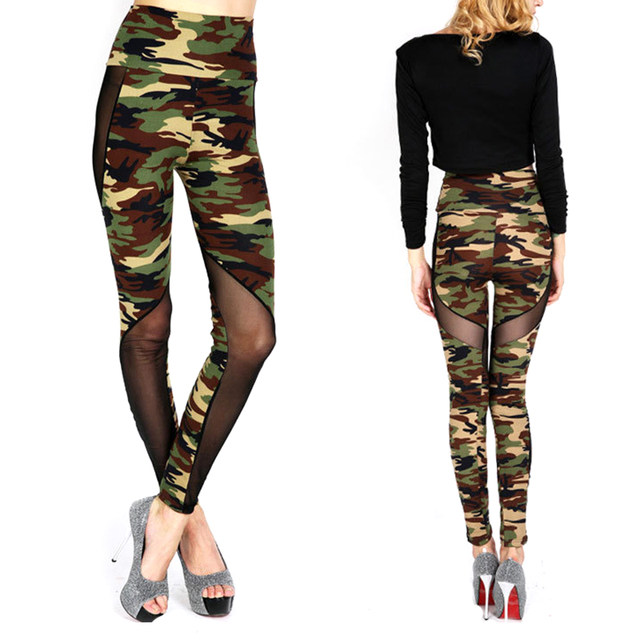 reputation first enjoy free shipping official Women Sexy Mesh Camouflage Leggings High Waist Patchwork Stretchy Slim Army  Camo Leggings Female Leggings KH853218-in Leggings from Women's Clothing &  ...
