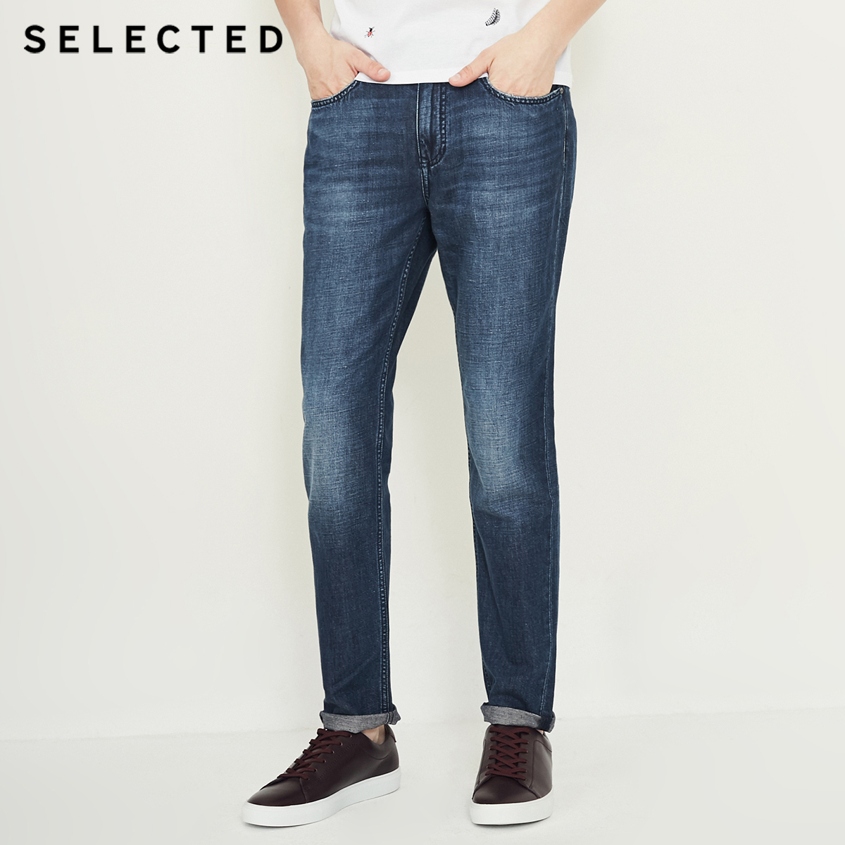 SELECTED Men Jeans Modis Cotton amp Linen Do Old Edge Grinding Prewashed Male Casual Denim Pants C 418332513 in Jeans from Men 39 s Clothing