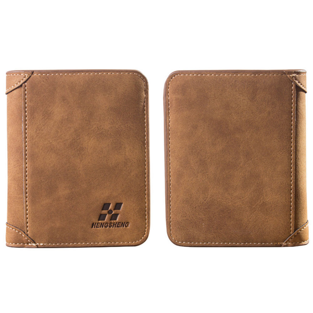 Mens Luxury Soft Business Leather Bifold Wallet Credit Card Holder Purse  Short Slim Male Purses Money Clip