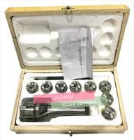 Morse Taper Collet 8Pcs & Chuck Spanner Set MT3 Lathe Milling Tools 7316B