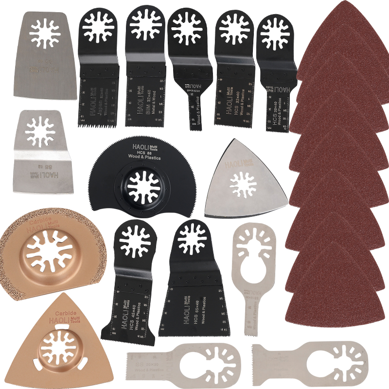Professional 41kits Renovator Dremel Accessories Saw Blade Oscillating Toolfor Multimaster power tools as Fein, Dremel etc easy install brush drying rack tree for different standard holes random color
