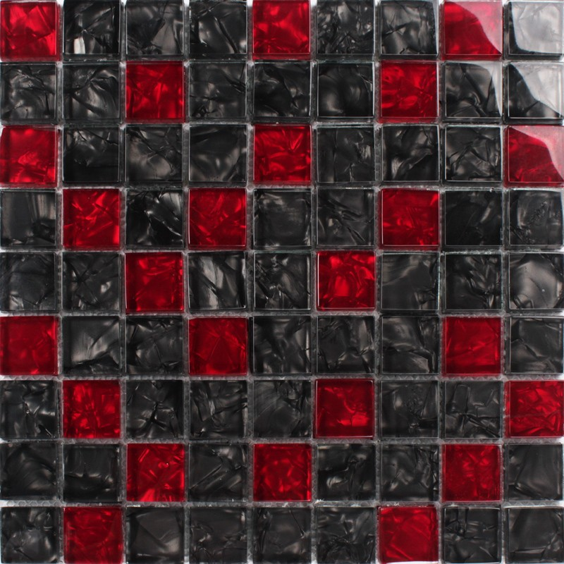Crystal Red And Black Mosaic 20 Mm 5