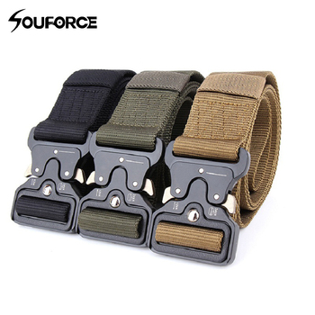 цена на Tactical Nylon Belt Deduction Outside Belt Length 125cm Width 3.8/4.5cm for Outdoor Hunting Training Sport