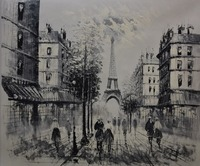 Hot Sale Landscape Painting On Canvas Abstract For Home Decoration Paris Streetscape Painting Handpainted Free Shipping