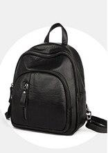 Мода новые девушки женщин симпатичные мягкие waterwashed кожа рюкзак простой кампус студенческая школа сумка рюкзак w69585fgg