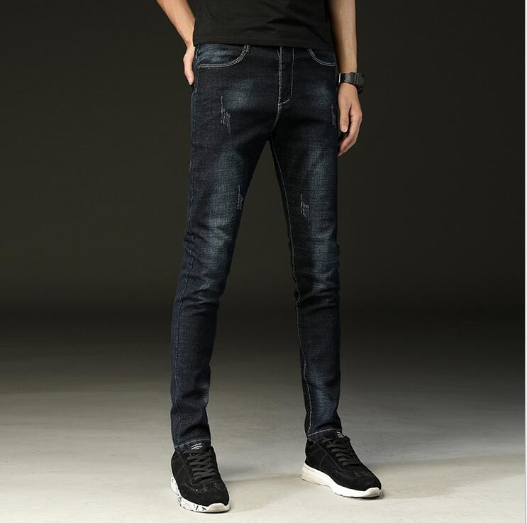Black Skinny Jeans Men Winter Autumn Stretch Denim Jeans Man Elastic Casual Slim Jean Pants Male Quality Jeans Homme