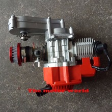 Красный 49cc двигателя 2-нажимом запуска двигателя w/коробка передач для мини-байк