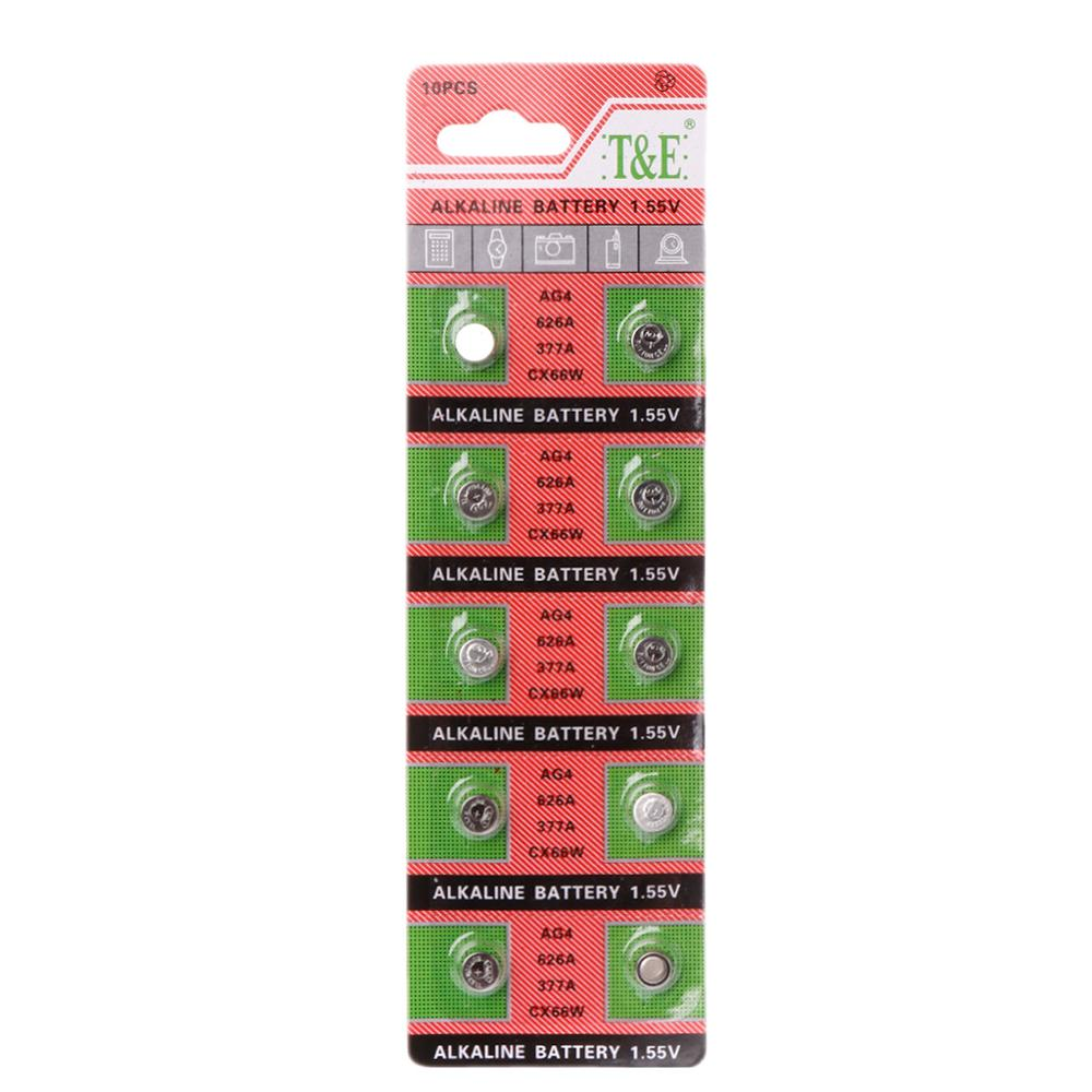 Coin-Battery Watch Remote-Camera Button AG4 LR626 SR66 10PCS 377
