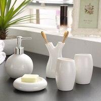 5 unids Hilo decoración de La Boda de Porcelana blanca con motivos florales de Cerámica accesorios de Baño titular de cepillo de dientes
