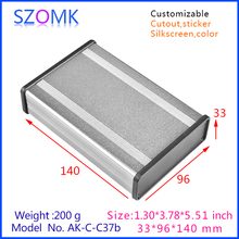 szomk new arrival aluminum amplifier enclosure (4pcs) 33*96*140mm aluminum distribution junction box, plastic plate aluminum box
