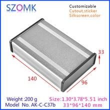 szomk new arrival aluminum amplifier enclosure (4pcs) 33*96*140mm aluminum distribution junction box, plastic plate aluminum box