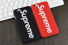 Moda supre case para iphone 5 5s 6 6 s 6 plus 6 s plus capa dura carcasa capa fundas coque
