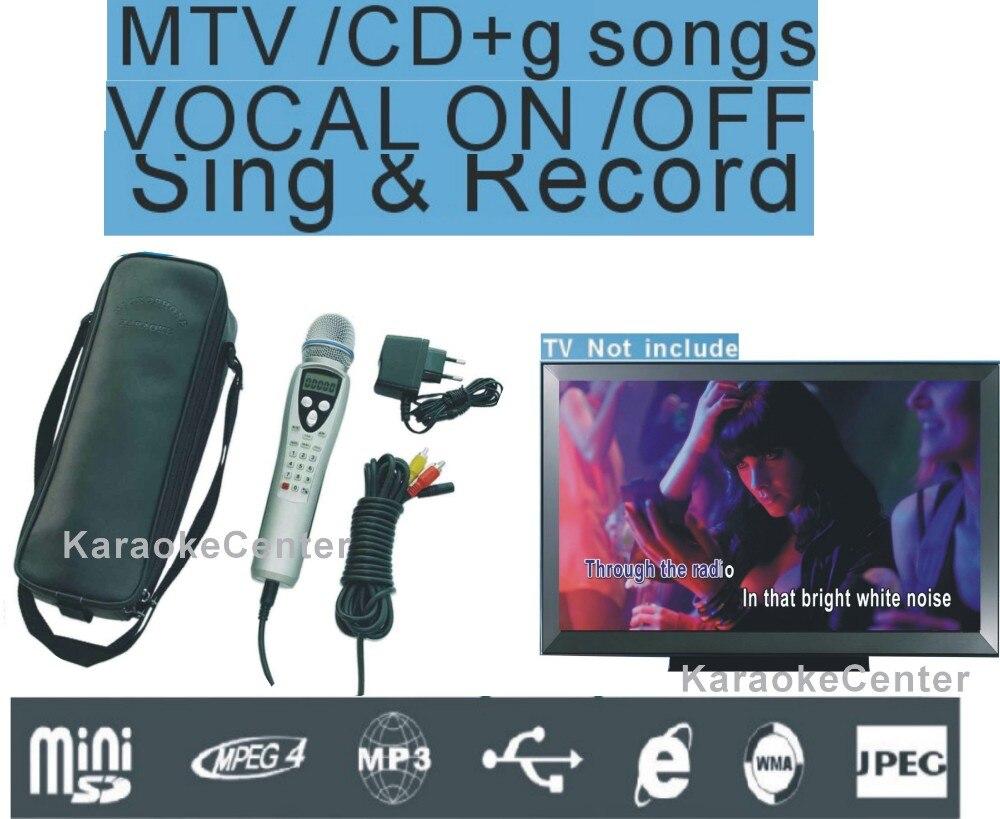 Heim-audio & Video Karaoke-player Beschreibbare Karaoke Player Portable Miagic Karaoke Micorphone System 8 Gb Karte Mtv/ktv/cdg Songs