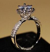 Женское кольцо с цветами choucong  роскошное кольцо из стерлингового серебра 925 пробы с фианитами ААА для вечеринки  свадьбы  помолвки  подарка  ...