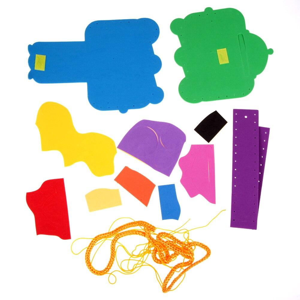 EVA-DIY-Bags-Cute-Flower-Handmade-Crafts-Cartoon-Sewing-Backpacks-Toy-Kids-Creative-Brain-Hand-Eye-Coordination-Traning-Toy-5