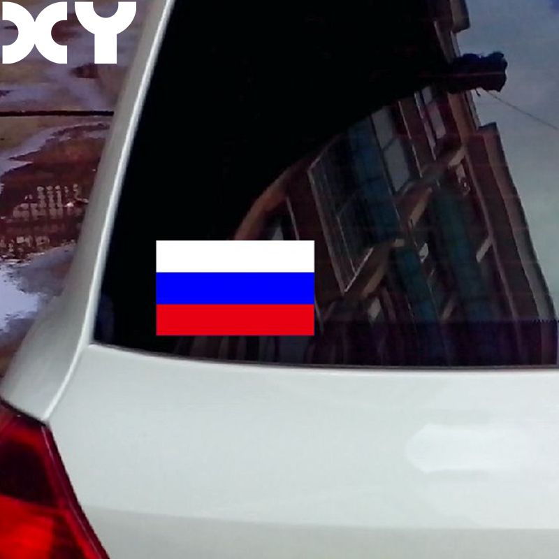 Российский флаг высокое качество светоотражающие ленты Водонепроницаемый винил автомобиль наклейка и отличительные знаки для автомобиль и мотоцикл груза падения