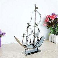 Mode Metall Segelboot Modell Empfindliches Craft Sammlung Geschenke für Freunde Einfache Eisen Desktop Dekorationen für Studie Kinderzimmer