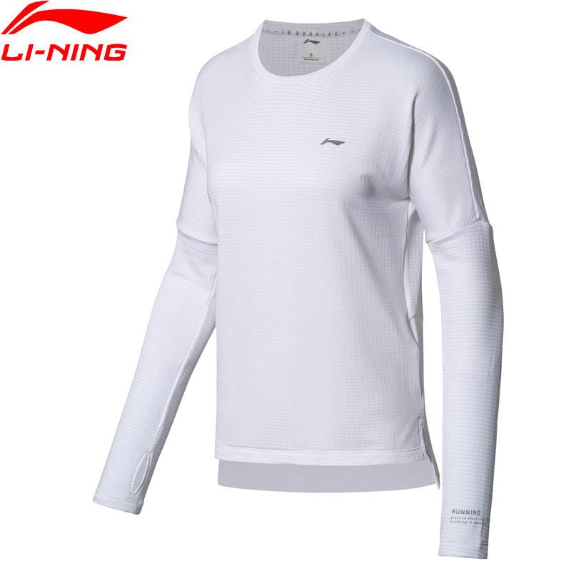 Li-Ning Women Running T-Shirt Warm Long Sleeve Shirts 95% Polyester 5% Spandex Loose Fit LiNing Sports Tops ATLN074 WTL1407 long sleeve plush lining button down shirt