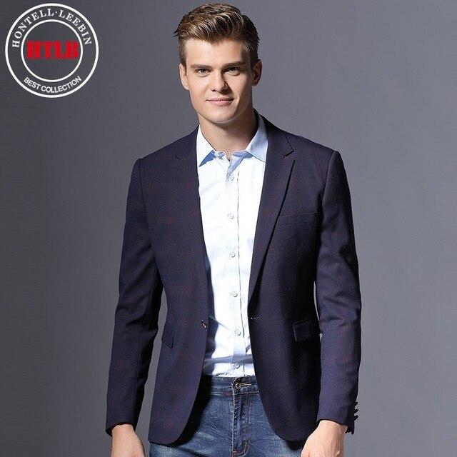 Hltb hombres de marca sólida boda negocio Chaquetas de traje Nueva  Inglaterra moda masculino slim fit 4a625b9ceed9