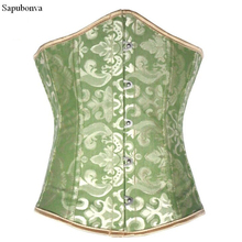 c479c2c1db6 Sapubonva women print white red waist cincher corset underbust tops corset  plus size corsets shapewear korsett