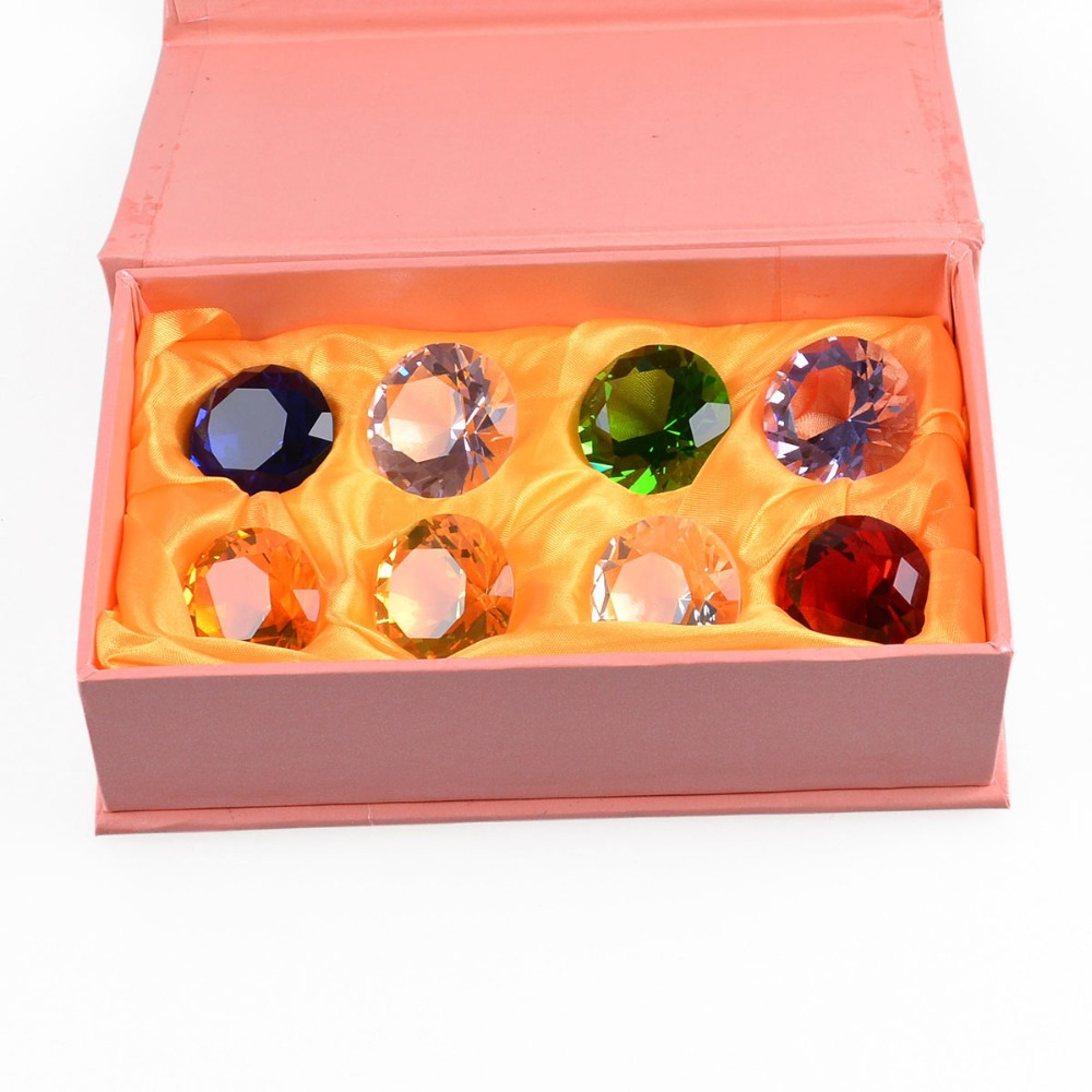 30mm Crystal Glass Diamond Paperweight 12PCS/SET Feng Shui Confetti Wedding Bridal Party Decoration Vase Filler Crystal Diamond