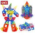 QWZ Novo Mini 164 Pçs/set Modelos Designer De Brinquedos Educativos Blocos de Construção Magnético Montar Iluminar Tijolos Crianças Brinquedos dos Presentes Do Natal