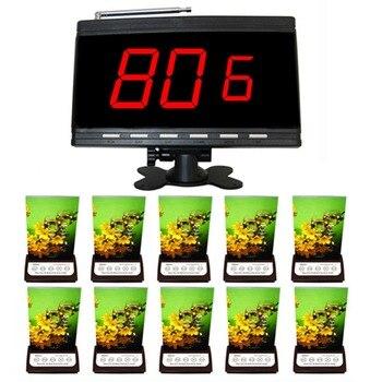 Singcall. llamada sin hilos del camarero dispositivo, cafetería, restaurante, hotel, KTV, 1 receptor con 10 5 botón buscapersonas