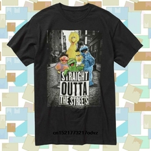 f3bb9895 Men T Shirt Sesame Street Straight Outta The Streets Muppets Graphic Tees  Black Tops S to