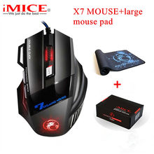 iMICE Large Mouse Pad X7 Wired Gaming Mouse 7 Buttons Optical Ergonomic Game Mouse Mice For PC Laptop Desktop Mouse Gamer(China)