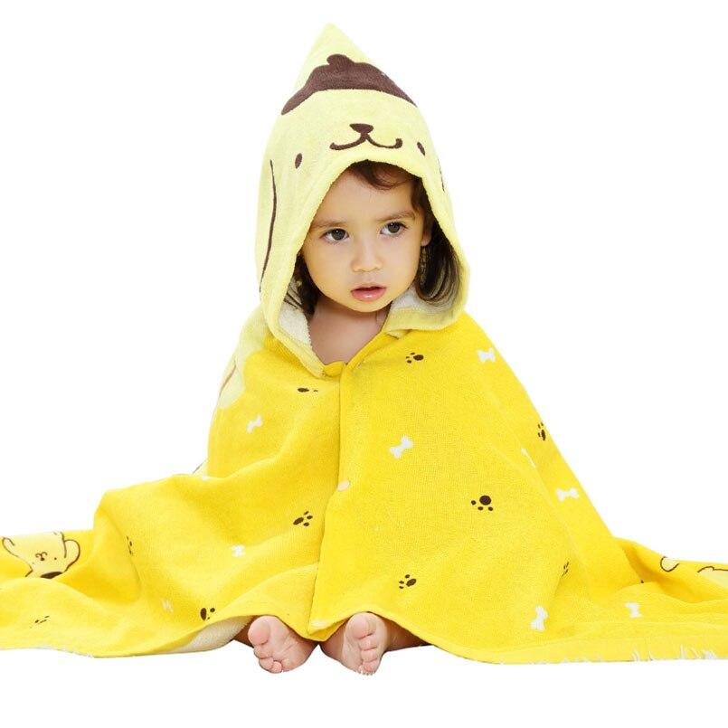 100% Baumwolle Baby Robe Strand Badetücher Kapuzenbademantel Jungen Mädchen Cartoon Tier Weichen Schlafanzug Mantel Kleidung Ändern Pads