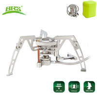BRS 6 Portable Outdoor Camping Burner Folding Gas Stove Cooker Gas Stove Alpine Mountain Highland Plateau Camping Equipment