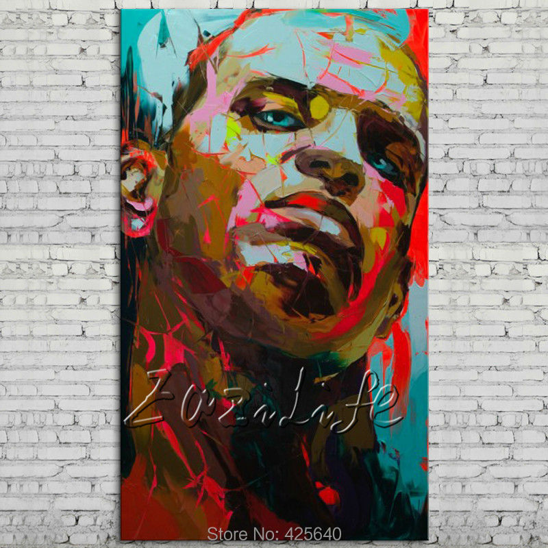 knife portrait Face Oil painting Character figure canva Hand painted Francoise Nielly  Art picture  room810knife portrait Face Oil painting Character figure canva Hand painted Francoise Nielly  Art picture  room810