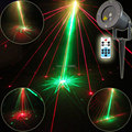 Remote Outdoor Waterproof R&G Laser 8 Big Patterns Projector Xmas Club Park Party Tree House Garden Outside Landscape Light T43