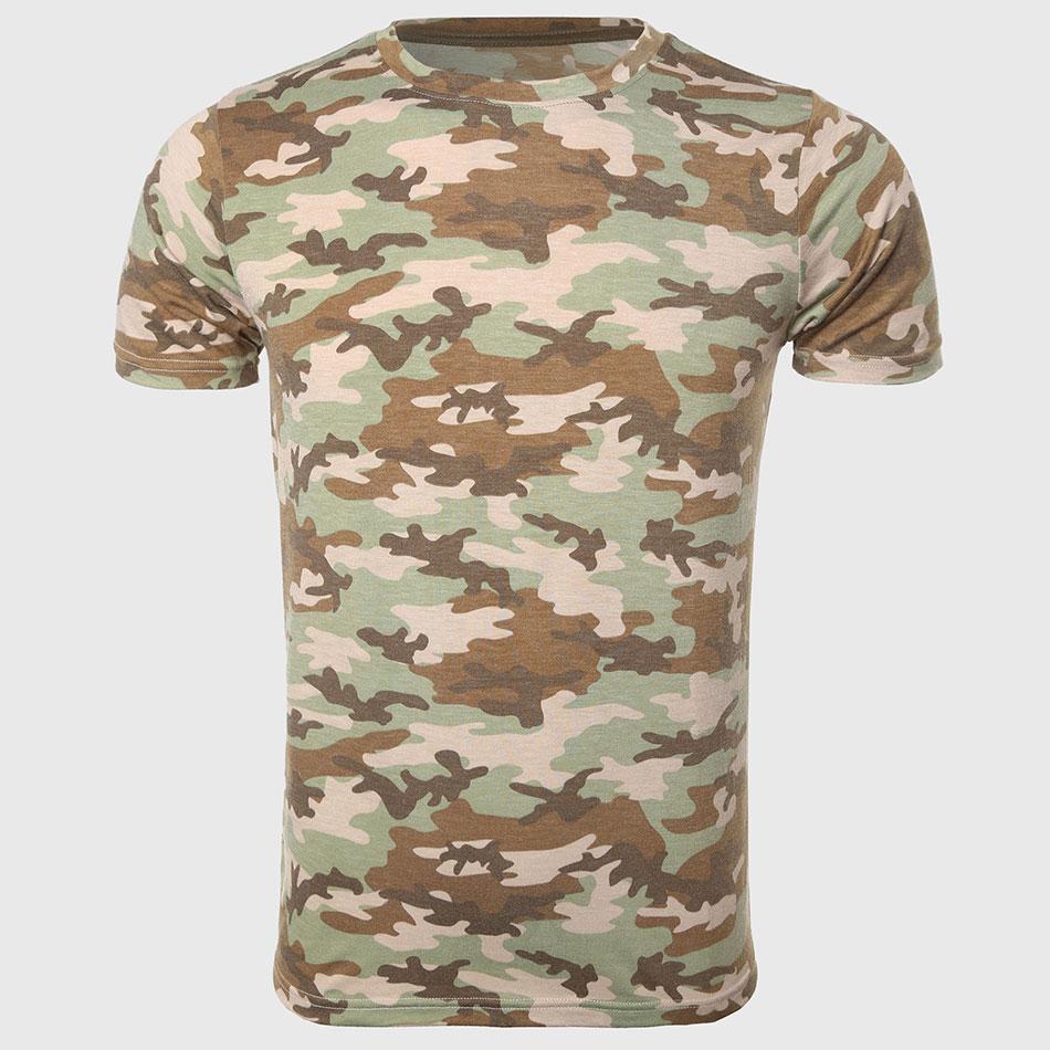 Men Camo Print T Shirts Urban Camouflage Tee Shirts Short
