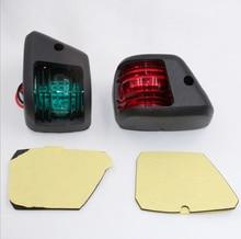 1 zestaw LED Mini światło nawigacyjne czerwony zielony Port światła Starboard światło dla 12 V łódź morska jacht