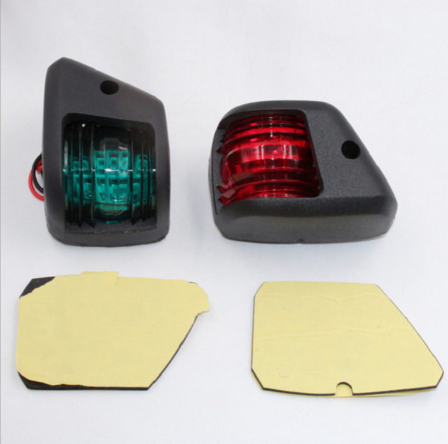 1Set LED Mini Navigation Light Red Green Port Light Starboard Light for 12V Marine Boat Yacht