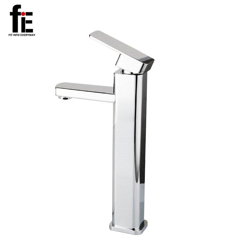 fiE Bathroom Faucet Mixer Tap Torneira Ceramic Taps Valve Chrome Water Tap Modern Desk Basin Faucet 40mm ceramic disc cartridge inner faucet valve water mixer tap y05 c05