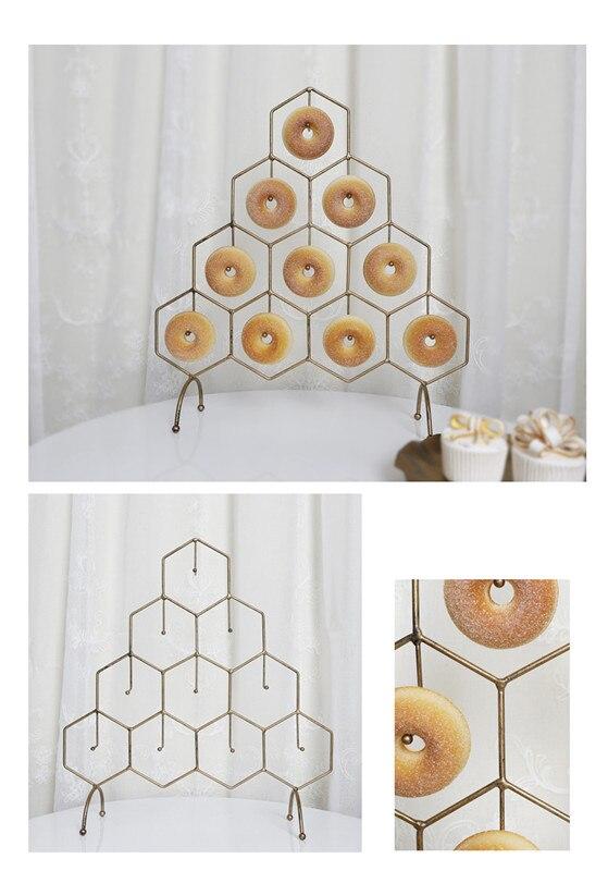 aniversário decoração racks donut party supplie