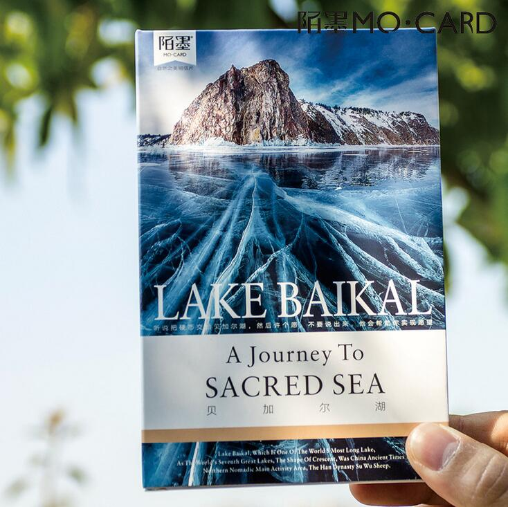 30 pcs/pack Lake Baikal A journey To Sacred Sea Card Greeting Card Postcard Birthday Letter Envelope Gift Card Set Message Card 30pcs in one postcard take a walk on the go dubai arab emirates christmas postcards greeting birthday message cards 10 2x14 2cm