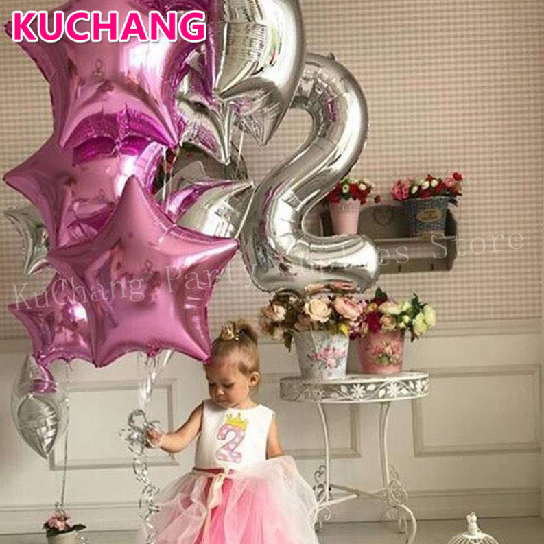 40Inch Gold Silver Tiny Slim Number Foil Balloons Birthday Wedding Party Digital Figure 0 9 Helium Globos Decor Balloons Kid Toy in Ballons Accessories from Home Garden