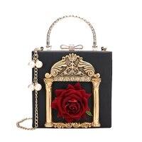 New Embossed Flower Bag Women 2018 Mini Messenger Bags Women Handbags Famous Brand Pearl Women Shoulder