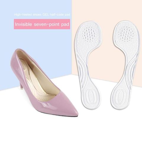 1 Pair Women Female Silicone Inserts Heel Liner Self-Adhesive High Heel Comfort Pads Arch Support Heel Protector Insoles Cushion Karachi