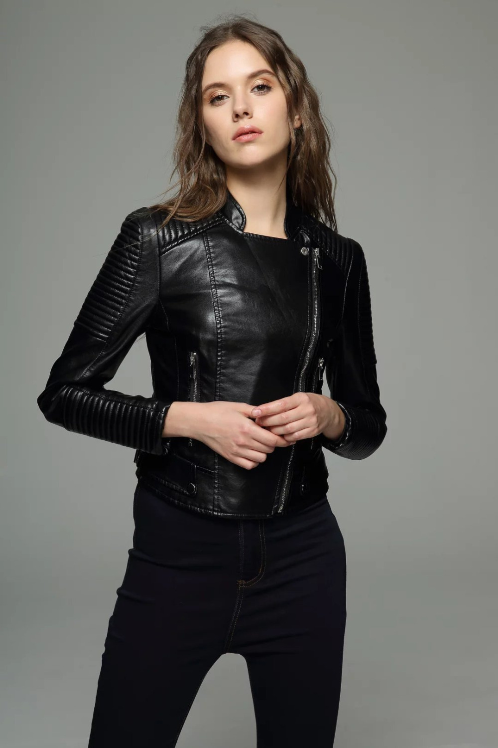 Compare Prices on Ladies Leather Bomber Jackets- Online Shopping ...