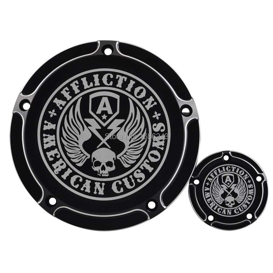 Skull Wing Timing Cover Timing Accessories Derby Timer Cover Fits For Harley Dyna Softail 99 17