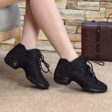 Soft Bottom Breathable Ladies' Dance Shoes With Net Vamps Wedges Mesh Modern Square Dancing Sneakers Latin tap dance NEW Fashion